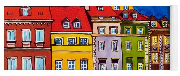 Houses In The Oldtown Of Warsaw Yoga Mat
