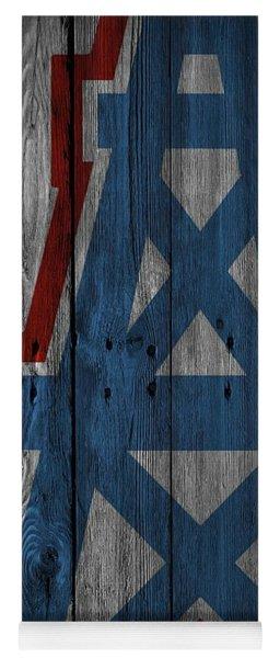 Houston Oilers Wood Fence Yoga Mat