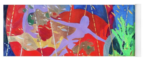 Yoga Mat featuring the painting How To Survive The Space-time Continuum by Denise Weaver Ross