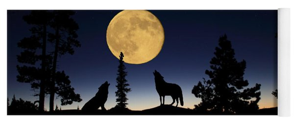 Howling At The Moon Yoga Mat