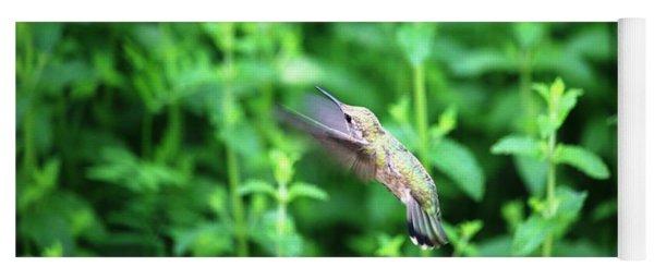 Humming Bird In Flight Yoga Mat