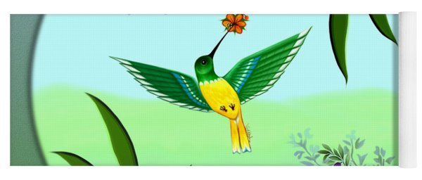 Humming Bird - Wall Art Yoga Mat