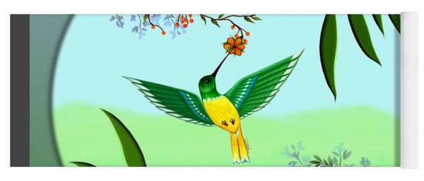 Humming Bird - Wall Art Yoga Mat