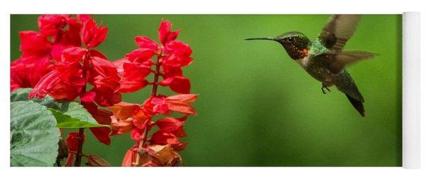 Hummingbird And Scarlet Sage Yoga Mat