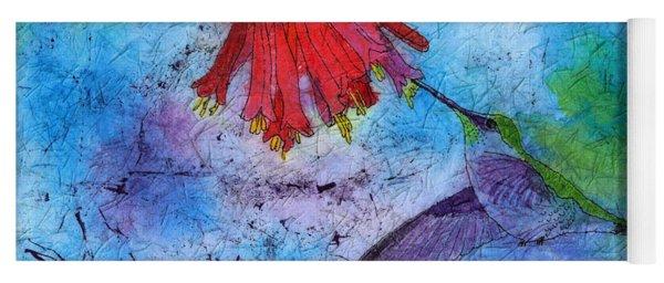 Hummingbird Batik Watercolor Yoga Mat