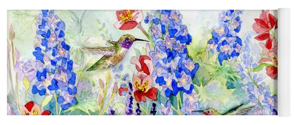 Hummingbird Garden In Spring Yoga Mat