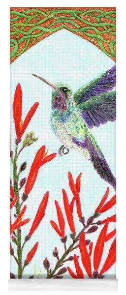 Hummingbird In Opening Yoga Mat