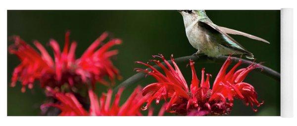 Hummingbird On Flowers Yoga Mat