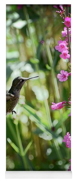 Hummingbird On Perry's Penstemon Yoga Mat