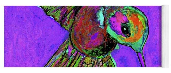 Hummingbird On Purple Yoga Mat