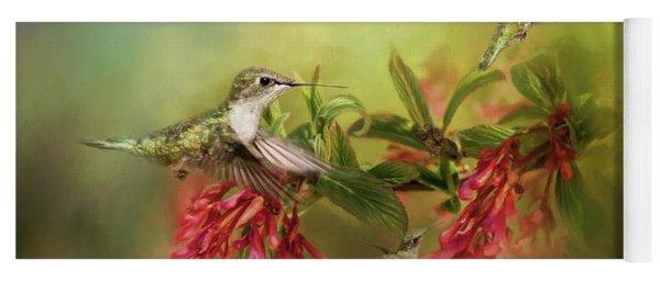 Hummingbird Paradise Yoga Mat
