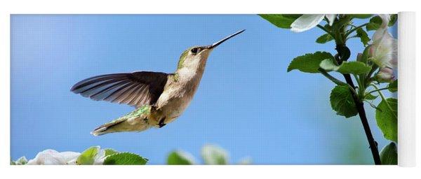 Yoga Mat featuring the photograph Hummingbird Springtime by Christina Rollo