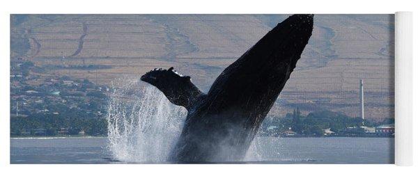 Humpback Whale Breach Yoga Mat