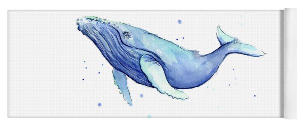 Humpback Whale Watercolor Yoga Mat