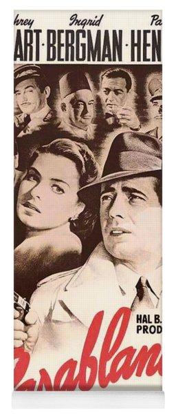 Humphrey Bogard And Ingrid Bergman In Casablanca 1942 Yoga Mat