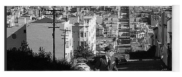 Humphrey Bogart Film Noir Dark Passage Telegraph Hill And Coit Tower San Francisco 1947 Yoga Mat