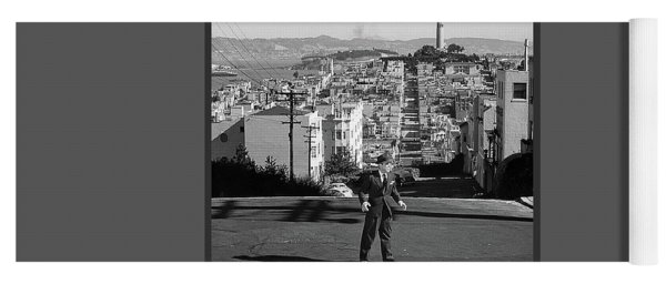 Humphrey Bogart Film Noir Dark Passage Telegraph Hill And Coit Tower San Francisco 1947 Yoga Mat