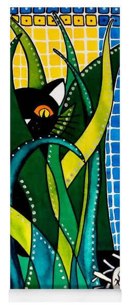 Hunter In Camouflage - Cat Art By Dora Hathazi Mendes Yoga Mat