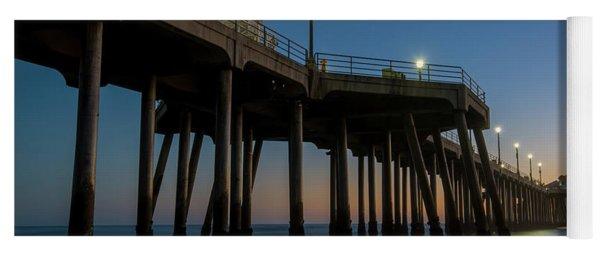 Huntington Beach Pier At Dusk Yoga Mat