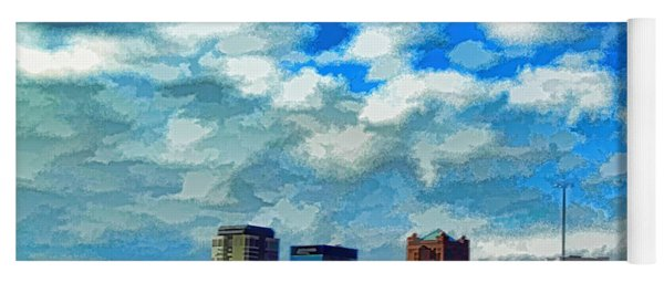Huntsville Alabama Skyline Abstract Art Yoga Mat