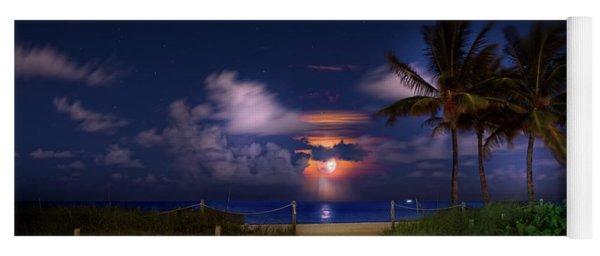 Hurricane Moon Yoga Mat