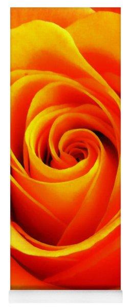 Hypnotic Orange Yoga Mat