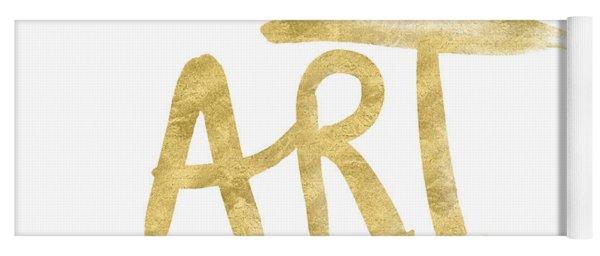 I Am Art Gold - Art By Linda Woods Yoga Mat