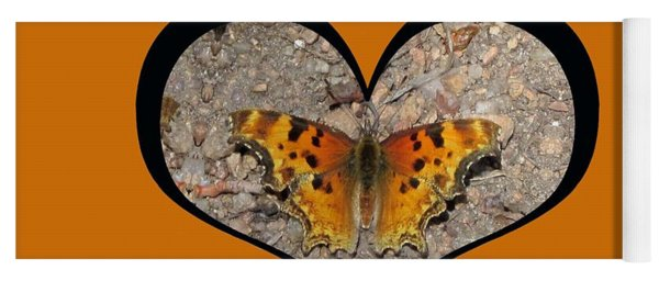 I Chose Love With A Butterfly In A Heart Yoga Mat