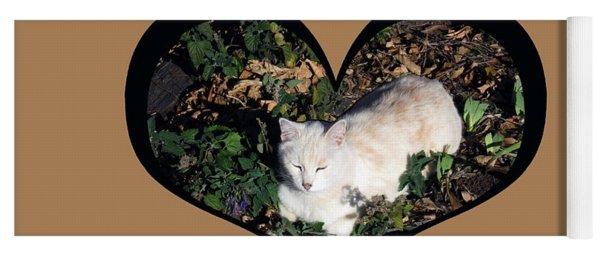 I Chose Love With A Cat Enjoying Catnip In A Garden Yoga Mat