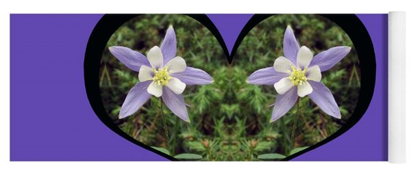 I Chose Love With A Heart Filled With Columbines Yoga Mat