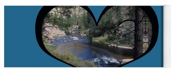 I Chose Love With A River Flowing In A Heart Yoga Mat
