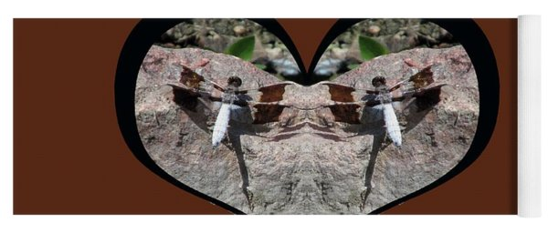I Chose Love With Dragonflies On A Rock Yoga Mat