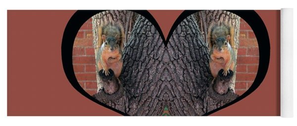 I Chose Love With Squirrels Hands On Hearts Yoga Mat