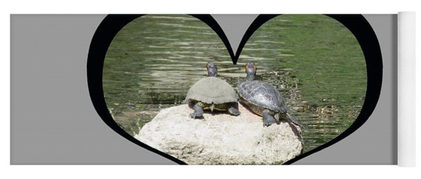 I Chose Love With Two Turtles Snuggling Yoga Mat