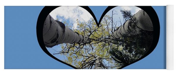 I Chose Love_heart Filled By Looking Up Aspens Yoga Mat