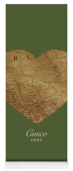 I Heart Cusco Peru Street Map Love Series No 095 Yoga Mat