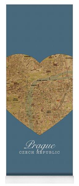 I Heart Prague Czech Republic Street Map Love Series No 085 Yoga Mat