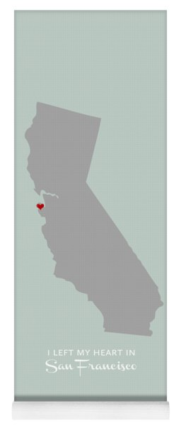 I Left My Heart In Sf Yoga Mat