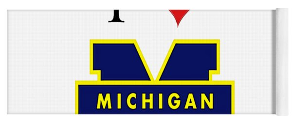 I Love Michigan Yoga Mat
