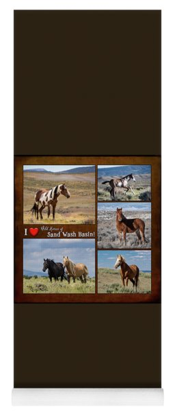 I Love Wild Horses Of Sand Wash Basin Yoga Mat