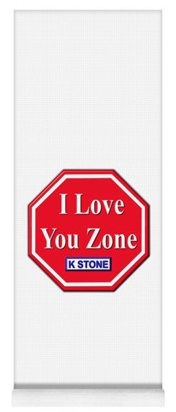 I Love You Zone Yoga Mat
