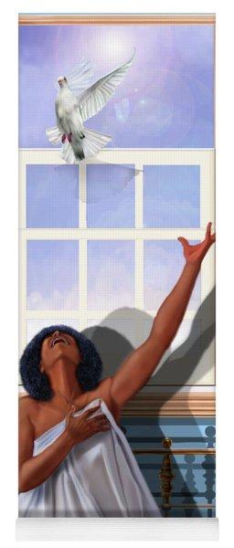 I Saw The Holy Spirit Descending Like A Dove Yoga Mat