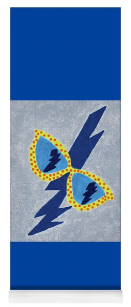 Yoga Mat featuring the painting I See Lightning  by Deborah Boyd