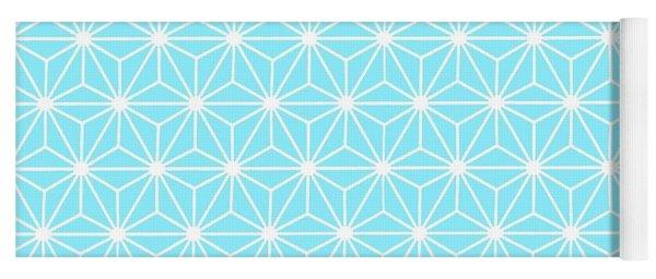 Ice Blue Geometric Flowers And Florals Isosceles Triangle  Yoga Mat