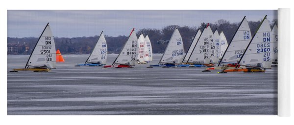 Ice Boat Racing - Madison - Wisconsin Yoga Mat