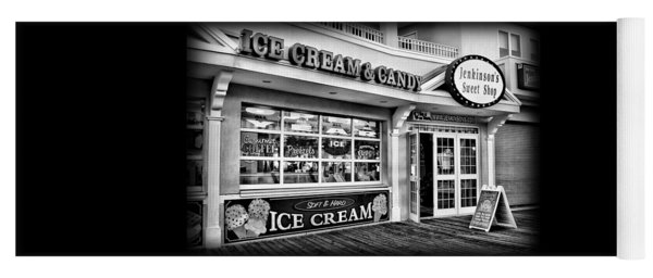 Ice Cream And Candy Shop At The Boardwalk - Jersey Shore Yoga Mat