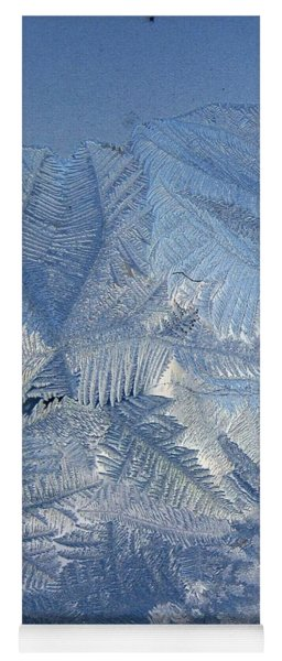 Ice Crystals Yoga Mat