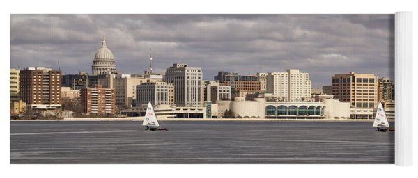Ice Sailing - Lake Monona - Madison - Wisconsin Yoga Mat