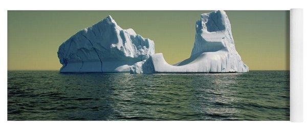 Yoga Mat featuring the photograph Iceberg In The Labrador Sea by Yva Momatiuk John Eastcott
