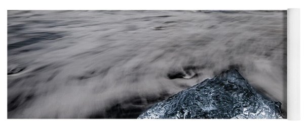 Yoga Mat featuring the photograph Iceberg Remnant by Rikk Flohr